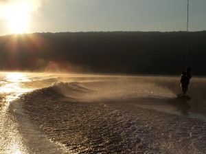 Brendo at dawn on Deep Creek Lake