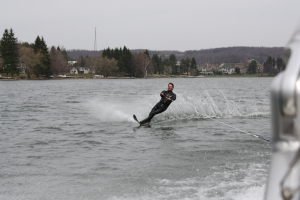Springtime Water Skiing on Deep Creek Lake