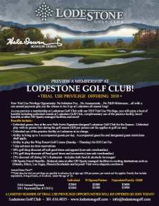 Lodestone Golf Club Trial Use Privilege
